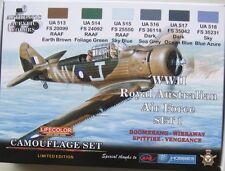 Lifecolor Acrylics LC-XS01 RAAF (Australian AF) WW2 paint set 1 Limited Edition