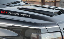 "(2) 16"" 6.5L Turbo Diesel Hood Vinyl Sticker Decal GMC Chevrolet 2500 3500 Truck"