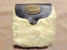 Civil War Hand Crafted Leather Possibles Bag (1970's) CSA Buckle