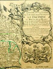 THEATRE DE LA GUERRE (...)LE DAUPHINÉ (...)N. BAILLEUL. IMP. DAUDET.FRANCE.1747