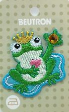 BEUTRON Iron On Motif Applique Patch Frog Prince BM5027 9312919025267 NEW
