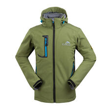 Men's Waterproof Soft Shell Outdoor Jackets Fleece Lined Hiking Skiing Coats L