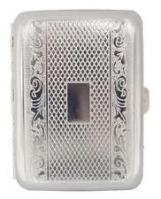 Metal Engraved Cigarete Case -~-~-~- Engraved Silver Design, Holds 16 Cigarettes