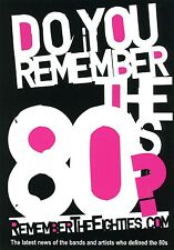 RememberTheEighties.Com Handout/Card - Toyah Wilcox & Many More