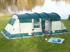 skandika Hurricane 8 Person Man XL Camping Tunnel Family Tent Group Green New