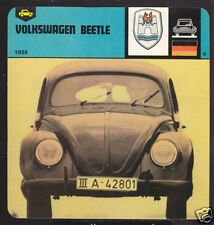 1938 VOLKSWAGEN BEETLE VW Car Picture History 1978 CARD