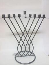 CHANUKAH MENORAH ~ ~ ~ chanuka candle metal חנוכה מנורה judaica jewish hanukka
