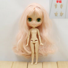 "8""Neo Middie Blythe Doll Pink Hair Nude Doll from Factory 99010+Gift(Hand set)"