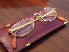 Original Must de Cartier Reading Glasses Gold Frame 19/48/135 Bought in 2012