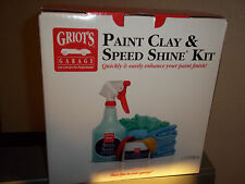 Griots Garage Car Care Kit Paint clay Speed Shine Hand Polish Best of Show Wax