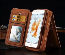 Per iPhone 6 4,7 WALLET IN PELLE MULTIFUNZIONE BAG CARD HOLDER COVER BRG