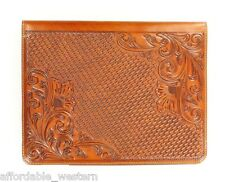 iPad 2 CASE ~ NOCONA Western Tooled Leather ~ Tablet Computer - Magnetic Closure