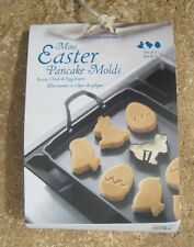 WILLIAMS SONOMA ~ MINI EASTER PANCAKE MOLDS ~ BUNNY CHICK AND EGG SHAPES