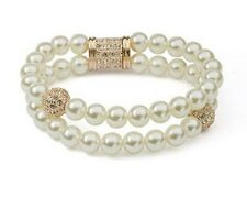 GORGEOUS 18K ROSE GOLD PLATED & GENUINE SWAROVSKI CRYSTAL AND PEARL BRACELET