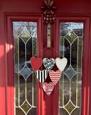 Valentines Day Heart Door Wreath Wall Decor Wall Hanging Swag FLORAL PICK Red