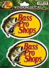 2 Bass Pro Shops Sticker 4.5in each Fishing decal set of 2 stickers
