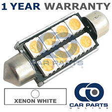 1X WHITE CANBUS NUMBER PLATE INTERIOR 6 SUPER BRIGHT SMD LED BULBS 42MM 14WX1