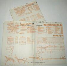 Bildfahrplan 4 BD Hamburg Sommer 1954 Hamburg-Stade-Cuxhaven