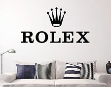 ROLEX Black Wall Decal Quality Sticker Decor Vinyl Luxury Top 2016 Clock Decor