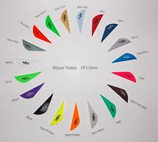 Blazer Vanes (New) w/Logo 19 Colors Mix/Match Pkg 50