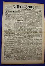 """BUCHBINDER=ZEITUNG 1897 Nr. 11 (6. März 1897) [""""Bookbinder=Newspaper""""]"""