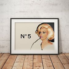 Chanel No 5 Marilyn Monroe - A4 Glossy Poster - FREE Shipping