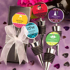 24 Personalized Expressions Bottle Stoppers Birthday Baby Party Wedding Favors