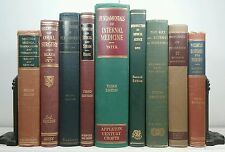 1941-1954~MEDICAL TEXT BOOK LOT~Vtg 9 Green Book Set~Old Decor Set~MEDICINE