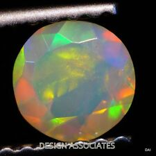 5 MM ROUND CALIBRATED ETHIOPIA WELO OPAL  FACETED MULTI FIRE LOOSE GEMSTONE