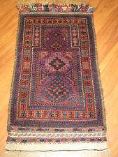 Antigua Afghan oración belutsch 123x66cm Antique balouchi Prayer Rug nº 284