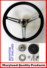 "1960-1969 Chevy Chevrolet Pick Up Grant Steering Wheel Black Grip 15"" Red/Blk"