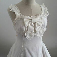Angelic Pretty Pure White Jumper Dress JSK Ruffle Frill Japanese Lolita Fashion