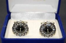 "Mens NIB Oversize Fashion Silver Cufflinks Monogram Initial ""I"" By Antonio Ricci"