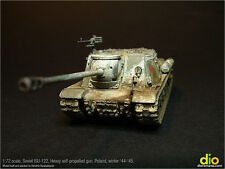 Built & Painted Model, 1:72 scale, Soviet ISU-122 Heavy self-propelled gun