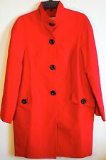 NWT Red Michael Kors 100% Cotton Coat size M