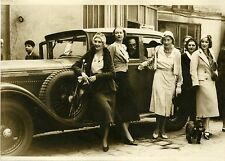 """RALLYE AUTOMOBILE FEMININ PARIS-DEAUVILLE 1931"" Photo originale G. DEVRED (ROL)"