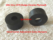 1962 1978 Chrysler Plymouth Dodge Hood Corner Adjust Screw Rubber Bumpers MoPar