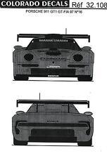 Colorado Decals 1/32 PORSCHE 911 GT1 GT-FIA 1997 #16 & #30