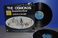 The Osmonds Around The World Live In Concert England '75 MGM M-! 2 LPs Vinyl FOC