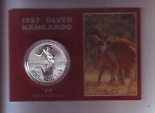 1997 1oz .999 Silver Coin $1 Kangaroo UNC Australia one ounce