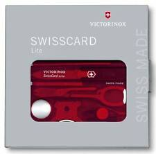 0.7300.T VICTORINOX RED SWISSCARD CREDIT CARD KNIFE 13 TOOL VI57331 53331 07300T