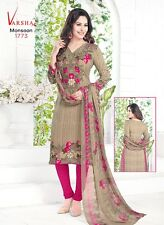 Salwar EDH Kameez Punjabi Suit Indian Ethnic Pakistani Unstitched Dres Synthetic