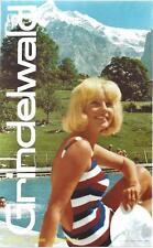 Original vintage poster GRINDELWALD BATHING BEAUTY c.1970