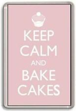 KEEP CALM AND BAKE CAKES Fridge Magnet