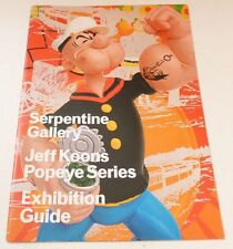 Jeff Koons - Popeye series   2009  ART EXHIBITION CATALOGUE