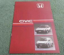 1985 HONDA CIVIC SHUTTLE & SHUTTLE 4WD 4 WHEEL DRIVE - UK 16pg BROCHURE