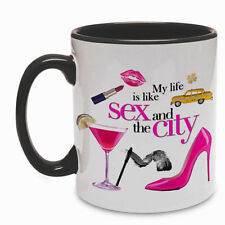 Tazza SATC inspired My life is like Sex and the City, scarpe, makeup, new york