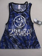Women Top XS Blue Love or Loose Me Polyester Cotton Zumba