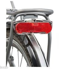 AXA Slim Steady LED Carrier Dynamo Rear Light Bicycle Bike Pannier Rack Fit 40g