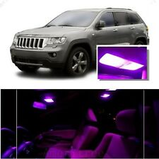 For Jeep Grand Cherokee 2011-2016 Pink LED Interior Kit + Pink License Light LED
